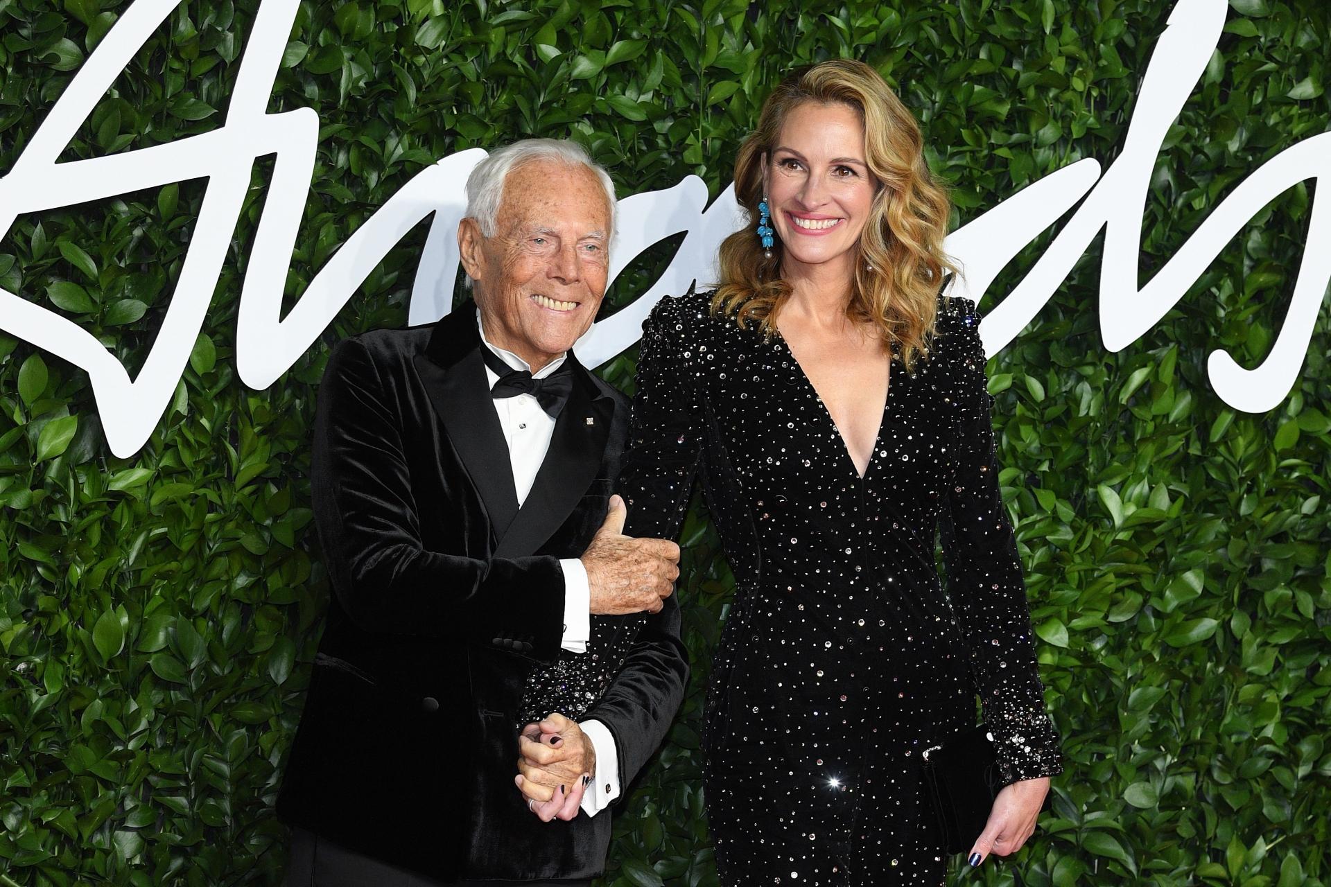 Trionfo Italiano Ai British Fashion Award Giorgio Armani
