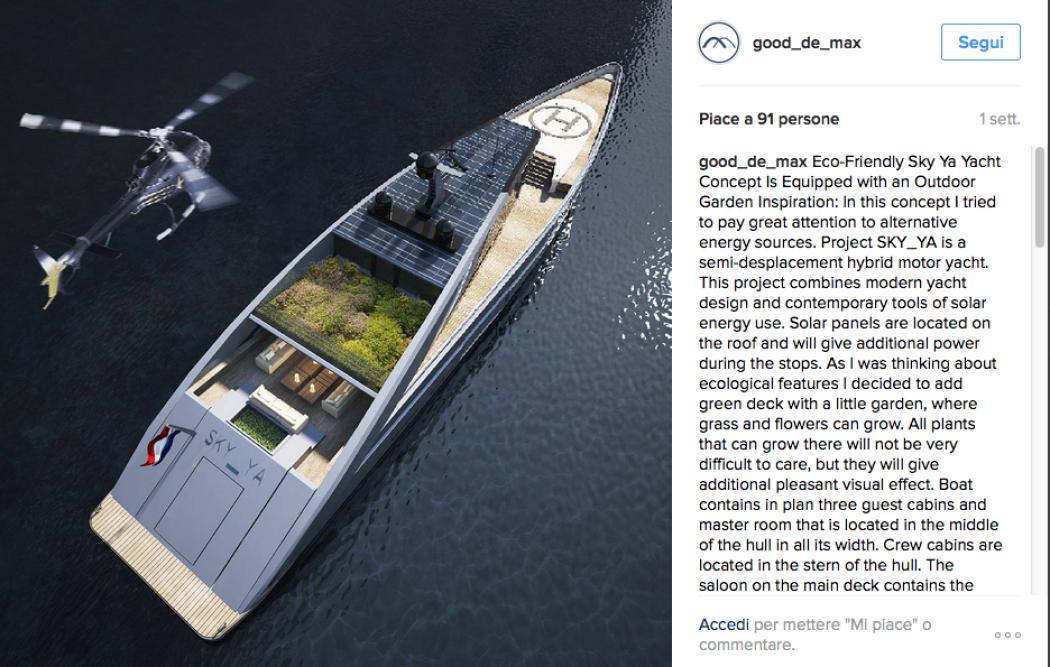 Ecco il super yacht con tanto di giardino! , Foto 1 di 6 , Radio Monte Carlo