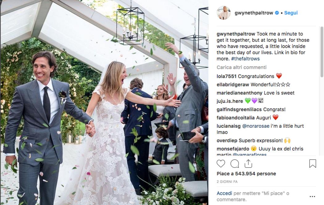 38db7f27ac55 Gwyneth Paltrow pubblica finalmente le foto del suo matrimonio - Foto 1 di  19 - Radio Monte Carlo
