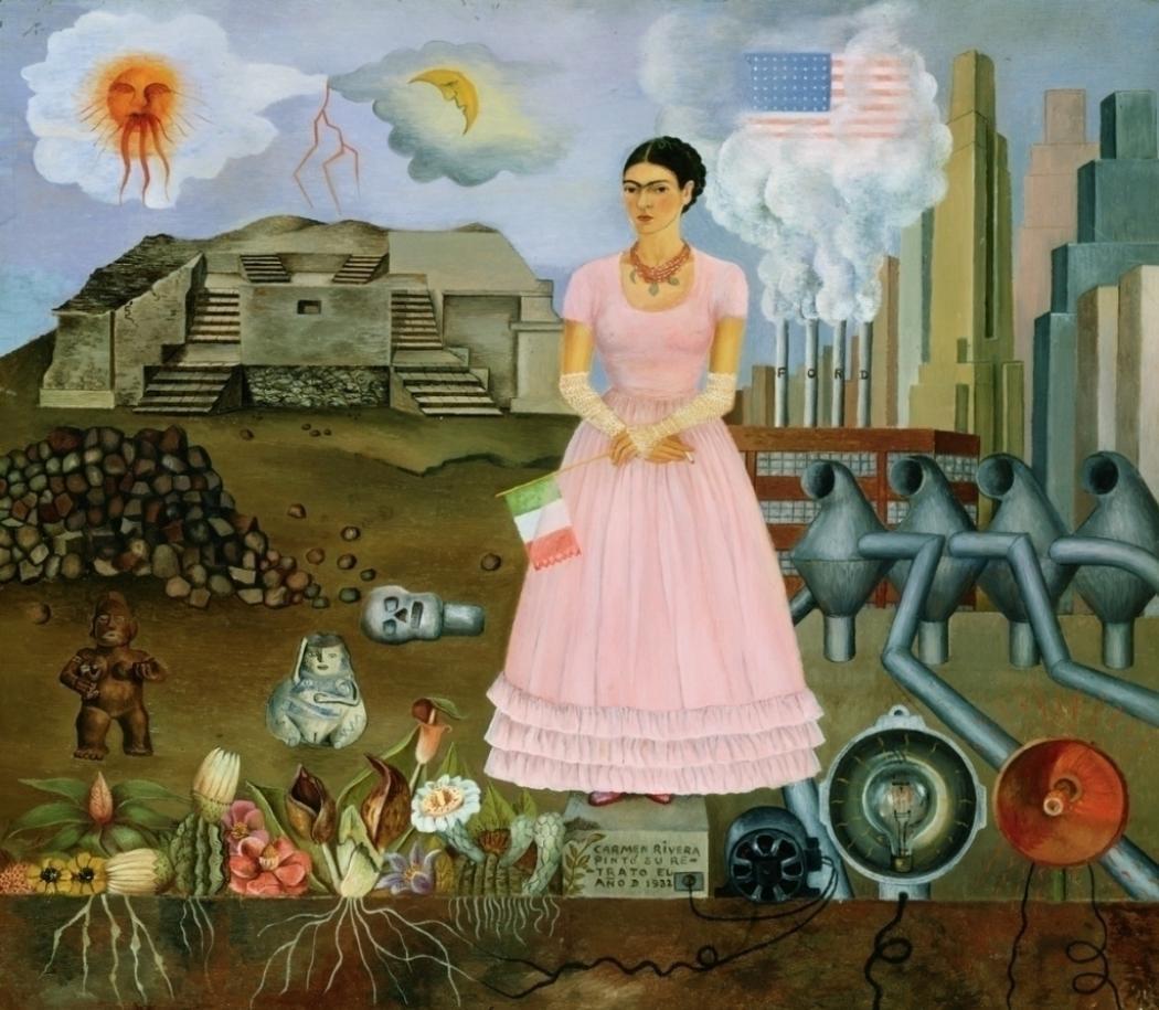Frida Kahlo Autoritratto al confine tra Messico e Usa