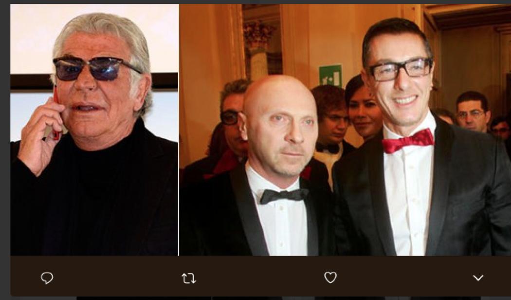 cb689e84ac3dc Roberto Cavalli  polemica con Dolce e Gabbana  - Radio Monte Carlo
