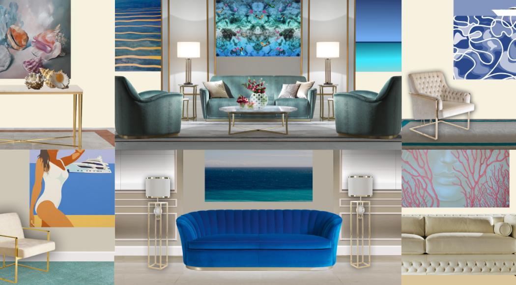 I colori del mare nell'arte e nel design da yacht
