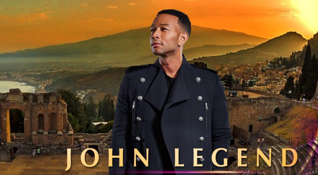 John Legend a Taormina per uno show d'eccezione