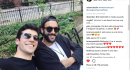 Marco Mengoni e Roberto Bolle, selfie insieme a New York