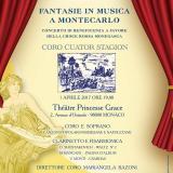 """Concerto di beneficenza a favore della Croce Rossa Monegasca: """"Fantasie in musica"""""""