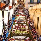 L'infiorata di Noto celebra Monte Carlo