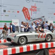 GERONIMO LA RUSSA Presidente dell'Automobile club Milano, conclusione della Mille Miglia