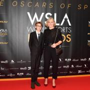 JOSEFA IDEM ex canoista al microfono di Boris Mantova per i World Sports Legends Award