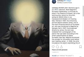 Il Magritte dei record:  quasi 27 milioni di dollari per un suo quadro