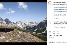 Sulle Dolomiti il balcone mozzafiato per ammirare il panorama