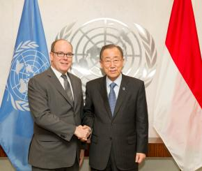 S.A.S. il Principe Alberto II in visita ufficiale all'ONU