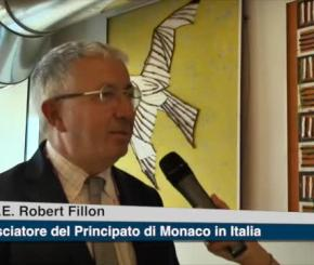 L'ambasciatore Robert Fillon all'evento di Sportello Italia