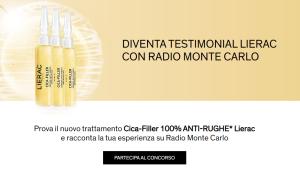 """REGOLAMENTO:""""DIVENTA TESTIMONIAL LIERAC CON RADIO MONTE CARLO"""""""