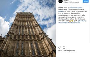 Londra. Il Big Ben rimarrà in silenzio fino al 2021