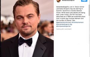 Leonardo DiCaprio di nuovo sul set con Tarantino