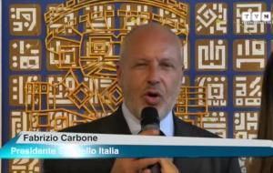 Fabrizio Carbone, presidente di Sportello Italia, all'evento presso l'Expo Monaco