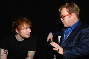 Ed Sheeran è felice che Elton John gli abbia soffiato il primo posto in classifica