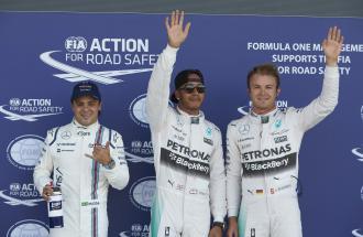 NICO ROSBERG, FELIPE MASSA Piloti e MAURIZIO ARRIVABENE Team Principal Ferrari: la gara al GP d'Inghilterra
