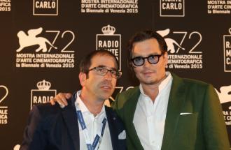 PIERPAOLO LA ROSA dalla 72° Mostra del Cinema di Venezia, intervista a JOHNNY DEPP