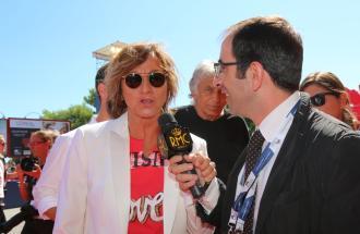 """PIERPAOLO LA ROSA dalla 72° Mostra del Cinema di Venezia, i film """"A bigger splash"""" e """"Janis"""" - l'intervista a GIANNA NANNINI"""