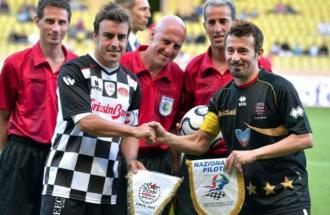 PETER FILL Campione di sci, partita di calico Star Team For The Children Vs Nazionale Piloti