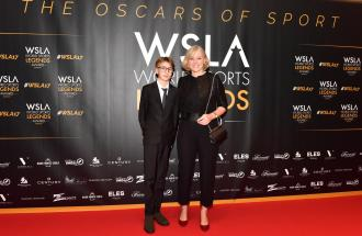 JOSEFA IDEM ex canoista al microfono di Boris Mantova per i World Sports Legends Award
