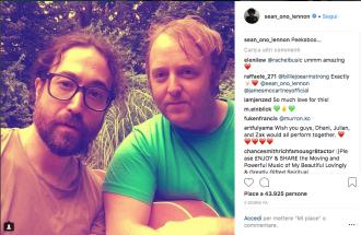 John Lennon e Paul McCartney: il selfie dei figli che fa impazzire i fan