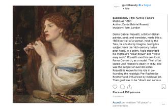 Instagram: ecco l'account Gucci dedicato all'arte