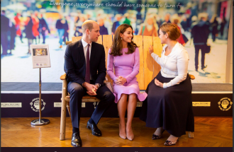 William prende in giro Kate a un evento ufficiale