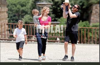Michael Bublé in vacanza in Italia con la famiglia: le foto