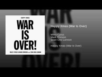 "Miley Cyrus, Mark Ronson e Sean Ono Lennon cantano ""Happy Xmax (War is Over)"""