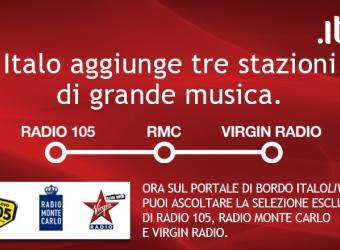 Radio 105 viaggia ad alta velocità su Italo Treno