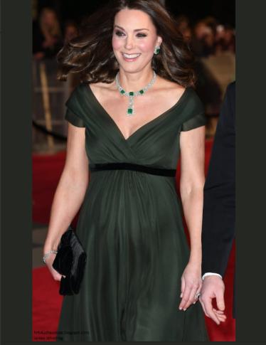 Polemica Kate Middleton: perché è apparsa in verde alla cerimonia dei BAFTA?