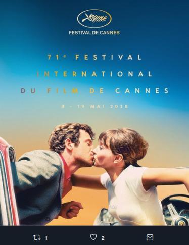 Cannes: omaggio a Godard nel poster ufficiale
