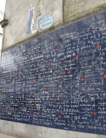 Parigi: ecco il muro dei «ti amo»