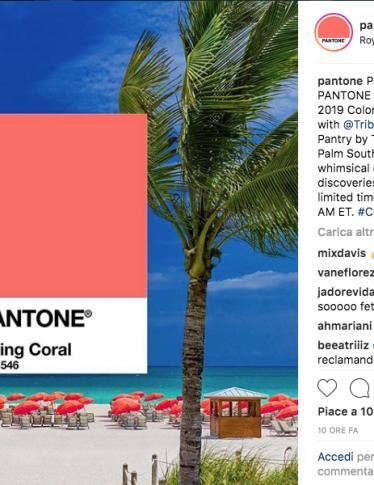 2019: per Pantone il colore dell'anno è Living Coral