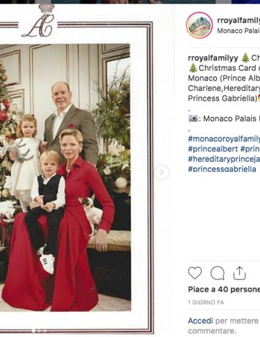 Gli auguri di Natale del Principe Alberto e della Principessa Charlene