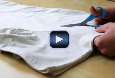 Ecco come riutilizzare le vecchie t-shirt