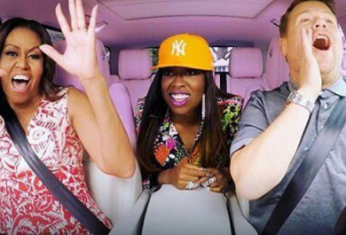 Michelle Obama si scatena al Carpool Karaoke di James Corden