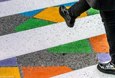 Le strisce pedonali diventano opere d'arte. Succede a Madrid