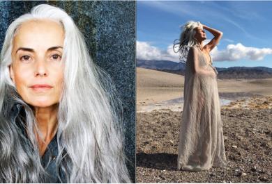 Yazemeenah Rossi, modella a 60 anni per promuovere la bellezza fuori dagli schemi