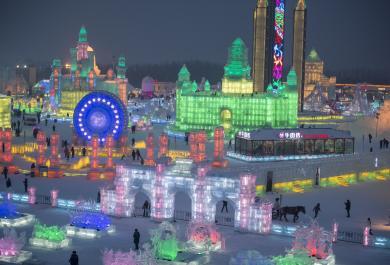 """Festival del ghiaccio. In Cina una città di sculture """"sotto zero"""""""
