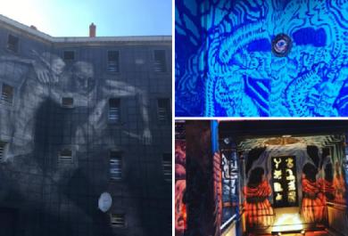 La prigione trasformata in una galleria d'arte moderna grazie alla street art