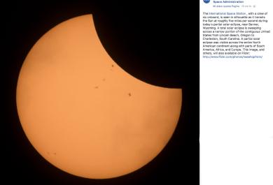La Grande Eclissi è social. Le immagini più belle