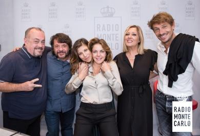 Claudia Gerini, Giorgio Pasotti, Michela Andreozzi  e Lillo ospiti di RMC: le foto più belle