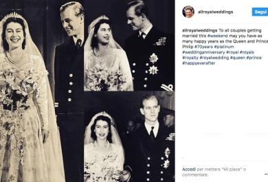 La Regina Elisabetta e il Principe Filippo festeggiano settant'anni di matrimonio
