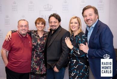 Christian De Sica, Lucia Ocone ed Enrico Brignano  ospiti di RMC:  le foto