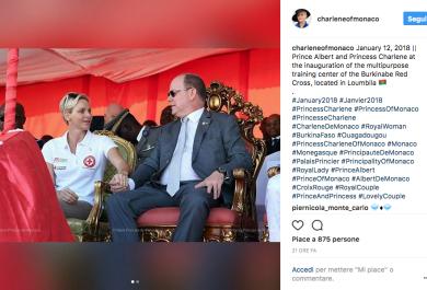 Charlene  e il Principe Alberto: insieme in Burkina Faso
