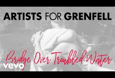 "Grenfell Tower: il video del singolo benefico ""Bridge Over Troubled Water"""