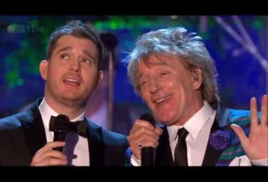 Rod Stewart & Michael Buble - Winter Wonderland